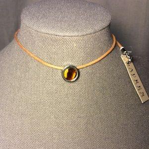 Ralph Lauren Tan Choker Necklace